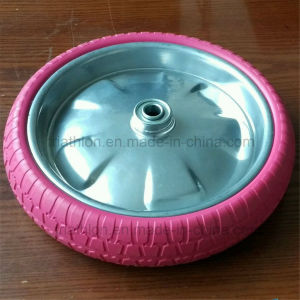 12X2.125 12X1.75 12X2.5 12X3 12X3.5 Flat Free PU Foam Solid Rubber Tire pictures & photos