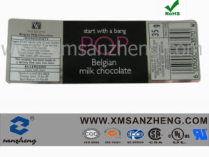 Silver Packaging Label Sticker for Milk Chocolate (SZXY050) pictures & photos