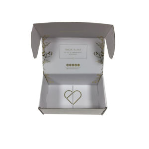 Gold Foil Stamping with Logo Embossed Corrugated Shipping and Packing Box pictures & photos