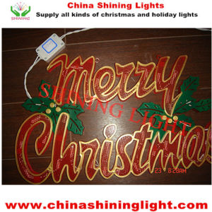 Merry Christmas Sign Window Wall Decoration LED Decorative Lights pictures & photos