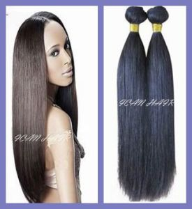 Hot Sale Unprocessed Human Hair Silky Straight Hair Extension