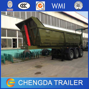 3 Axle Heavy Duty Box Design Tipper Rear Dump Semi Trailer pictures & photos