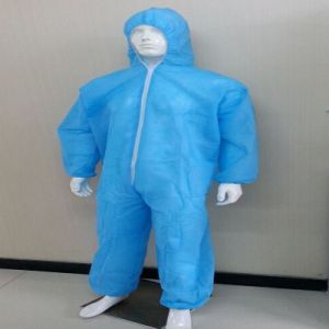 Disposable 115*135cm 43GSM PP Coveralls with Hood