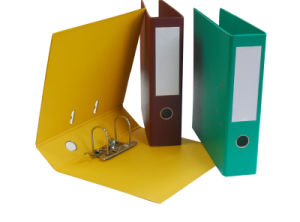 PVC Arch Lever File, Available in Various Sizes, Colors and Materials