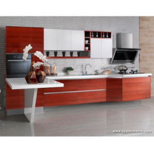 China Modern Laminate Particle Board Kitchen Cabinet Op13