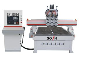 Three Head Woodworking CNC Router Machine (SX1325B-3) pictures & photos