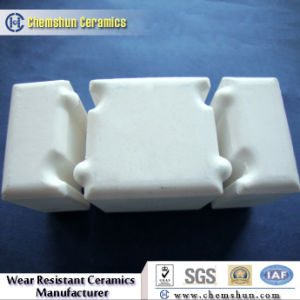 Inter-Locking Alumina Wear Ceramic Block with Groove and Tongues pictures & photos