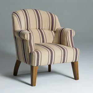 Modern Linen Fabric Armchair Single Sofa (GK7003)