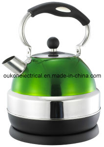Stainless Steel Electric Whistling Kettle in Green (OULT-0830A)