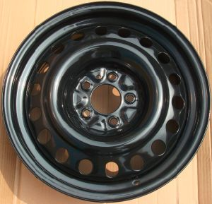 Black snow steel wheel 16x6.5&17x6.5 for car pictures & photos