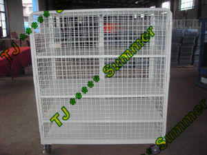 Insulated Nesting Mesh Steel Roll Container 800*600*1450 pictures & photos