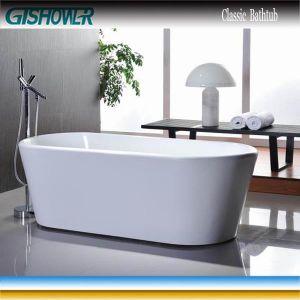 Bathroom Oval Plain Acrylic Bathtub (KF-736) pictures & photos