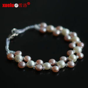 Fashion Bracelet Jewelry Coin Natural Freshwater Pearl Double Strand Bracelet pictures & photos