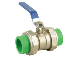PPR Double Union Brass Ball Valve pictures & photos