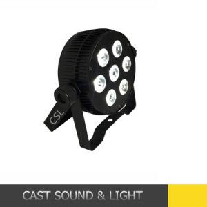 Cheaper Aluminium 7PCS 10W 6in1 LED Flat PAR Stage Light pictures & photos