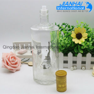 Clear Color White Glass Wine Bottle pictures & photos