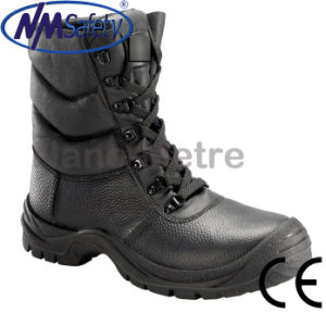 Nmsafety Cowhide Leather High Cut Steel Toe Cap Safety Boots pictures & photos