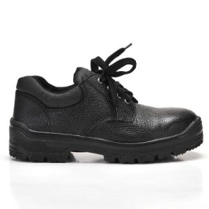 Safety Shoes with Steel Toe and Steel Plate Rubber Outsole Low Cut