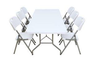 200cm Trestle Plastic Folding Banquet Table (SY-200C) pictures & photos
