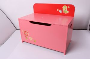 Storage Wooden Toy Storage Toy Box Bench Chest Storage Case Children Furniture Decoration Furniture-Red Chick pictures & photos