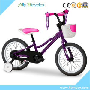 "16"" Pink Alloy Bicycle Kids City Training Wheels Bike for Girls pictures & photos"