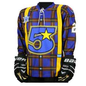Custom Polyester Dye Sublimation Printed Ice Hockey Jerseys with Your Design pictures & photos