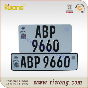 Plain Aluminum Number Plate with Reflective Sheet pictures & photos