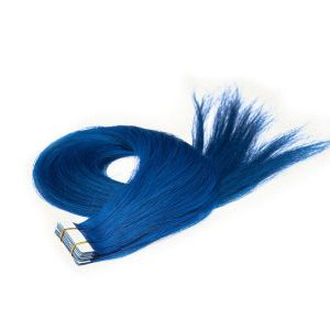 European Remy Blue Color Tape Human Hair Extensions pictures & photos