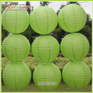 Grass Green Round Paper Lantern for Easter