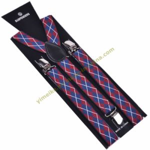 Fashion Argyle Print Unisex Elastic Suspender 2.5*100cm (BD1009-53) pictures & photos