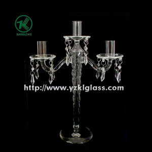 Glass Candle Holders for Party Decoration with Three Posts (10*24*32.5) pictures & photos