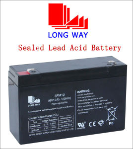 6V12ah Rechargeable Sealed Lead Acid Battery pictures & photos