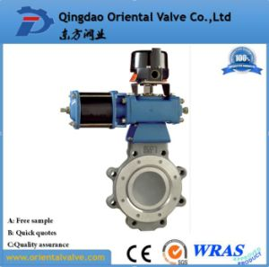 Wafer Connection Air Water Pneumatic Actuated Butterfly Valve pictures & photos