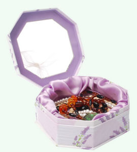 Octagon Rigid Paper Necklace Storage Box pictures & photos