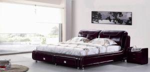 Modern Bed/Leather Bed (WLNK-V90840#)