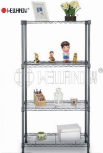 Adjustable 4 Tiers Black Metal Rack for Home (LD6035150B4E) pictures & photos
