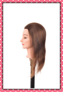 100% Human Hair Mannequin Head 20inches for Beauty School Training pictures & photos