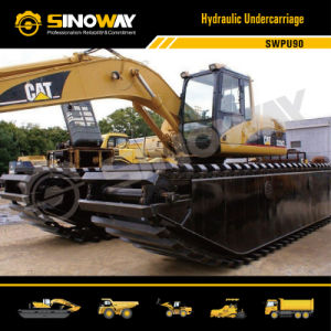 Hydraulic Undercarriage Pontoon with Cat Excavator Upper pictures & photos