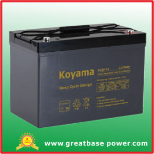 Faster Recharging Time Deep Cycle Battery for Marine Vessels 90ah 12V pictures & photos