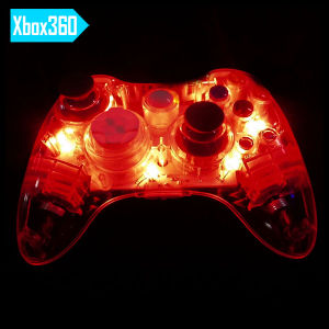 Transparent Red Color Joystick for xBox 360 Wireless Controller