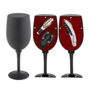 Wine Glass Shaped Wine Gift Set (608011-E) pictures & photos