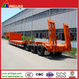 Heavy Duty Truck Semi Trailer / Cargo Platform Concave Lowbed Trailer pictures & photos