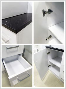 Sanitary Ware White Glossy MDF Bathroom Cabinet with Single Basin (P6011-900G) pictures & photos