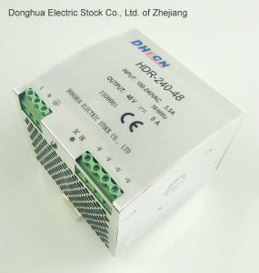 240W Single Output Industrial DIN Rail Power Supply (HDR-240-48) Input 100-240V AC to DC Output 48V 5A, Ce RoHS ISO9001 pictures & photos