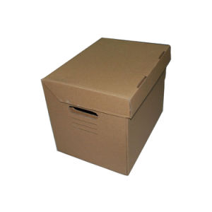 Custom Corrugated File Box, Office File Box with Logo Printing pictures & photos
