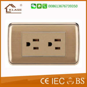 American Style Electric Universal Triple Receptacle Pole Socket pictures & photos