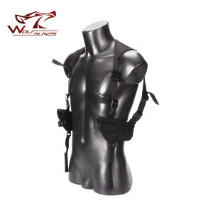 Tactical Armpit Double Shoulder Holsters Airsoft Shooting Outdoor Hunting Holster pictures & photos