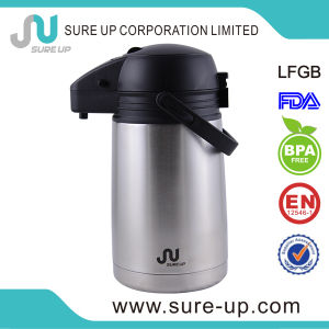 Stainless Steel 1.9L Insulated Airpot Pump Action Thermos Vacuum Pot pictures & photos