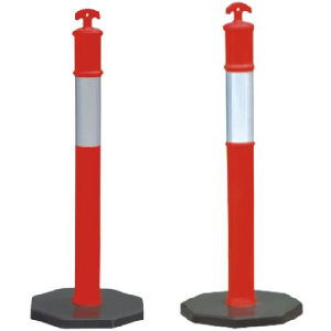 Black Base Plastic T-Top Road Safety Delineator Post pictures & photos