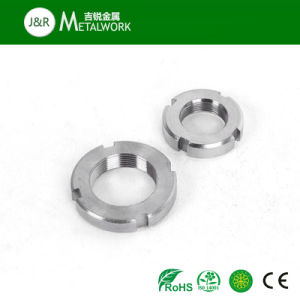 Stainless Steel SS304 SS316 Round Slotted Nut (DIN, ANSI) pictures & photos